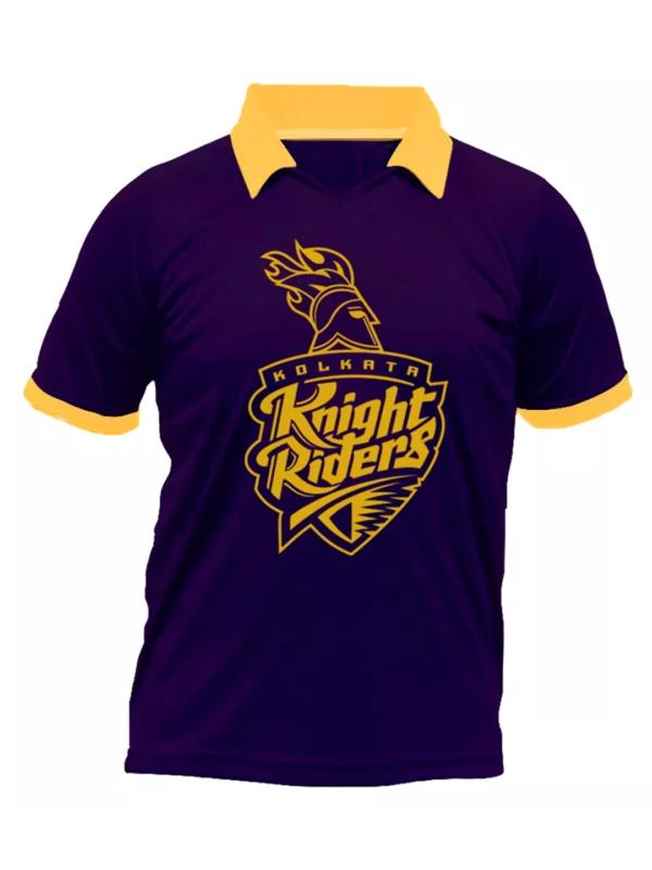 IPL Special Kolkata Night Riders (KKR) Fan Jersey (Collared)