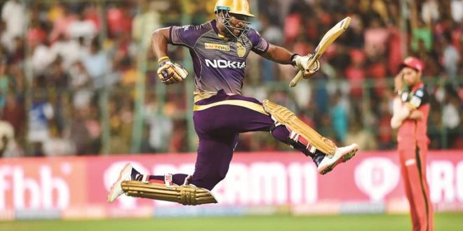 Andre Russell has had some memorable knocks from his time at KKR