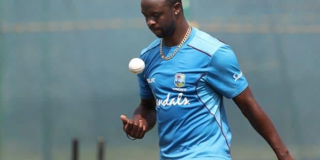 West Indies' Kemar Roach