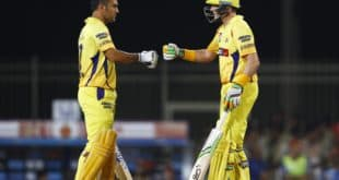 CSK MS Dhoni Mike Hussey