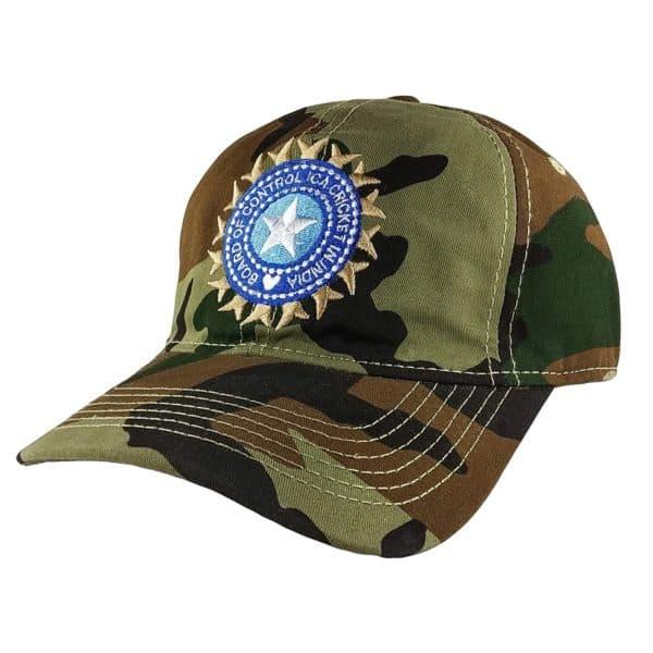Team Indian Cap Army Shade BCCI Logo