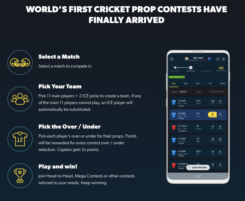 World's first cricket prop contests have finally arrived!