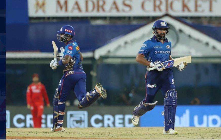 Rohit Sharma Captain of Mumbai Indians and Suryakumar Yadav of Mumbai Indians (Credit : BCCI/IPL) (not for sale)