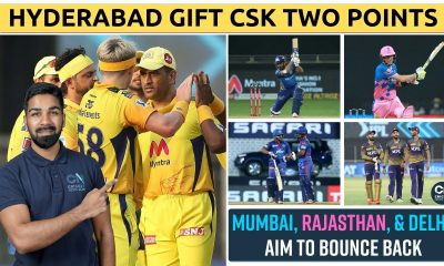 Hyderabad's MISTAKES gift CHENNAI two points | MI v RR Preview + DC v KKR Preview | IPL 2021