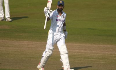 KL Rahul scores a century on Day 1 of the practice match against County Select XI Image Source: IANS