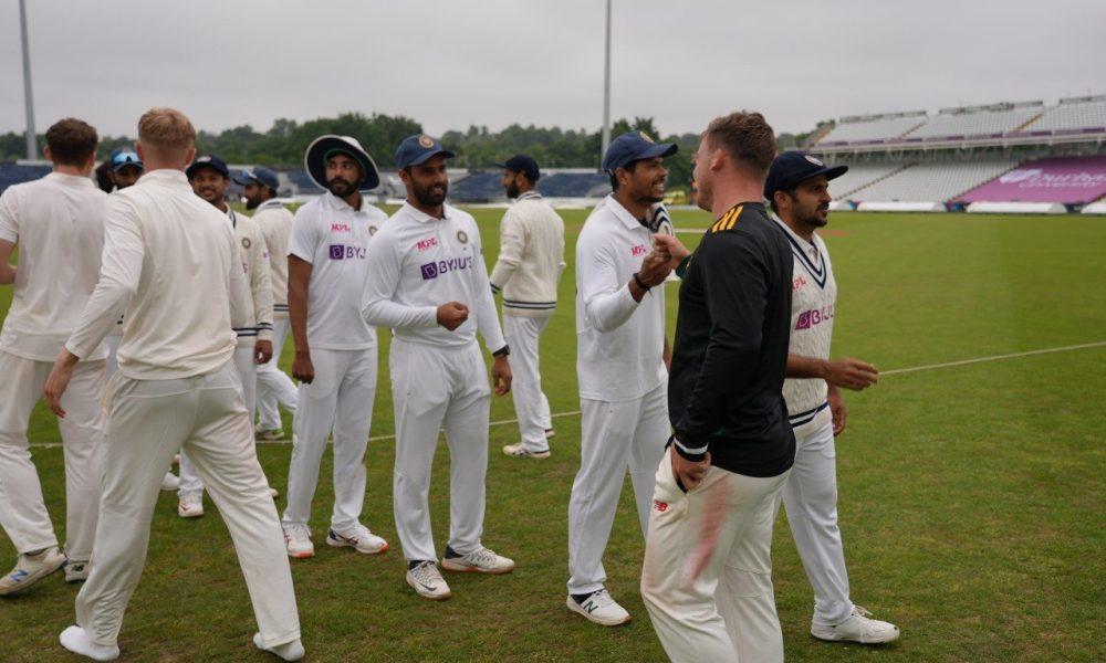 Select County XI vs India Image Source: IANS